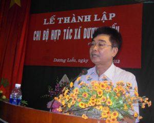 Dương Liễu thành lập chi bộ  Hợp tác xã